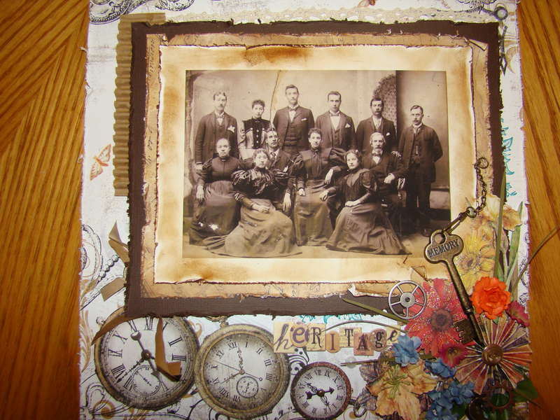 1850's Vintage photo of my Great, great, great Grandfather and Grandmother and my great, great grandfather and his family
