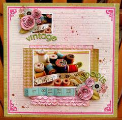 Vintage spools *Hip 2b Square September Kit*