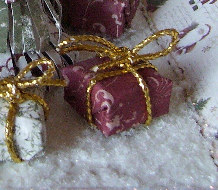 Christmas explodingbox - Inside