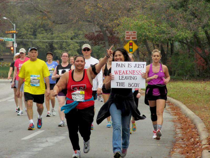 Guns Up-Daughter running half marathon