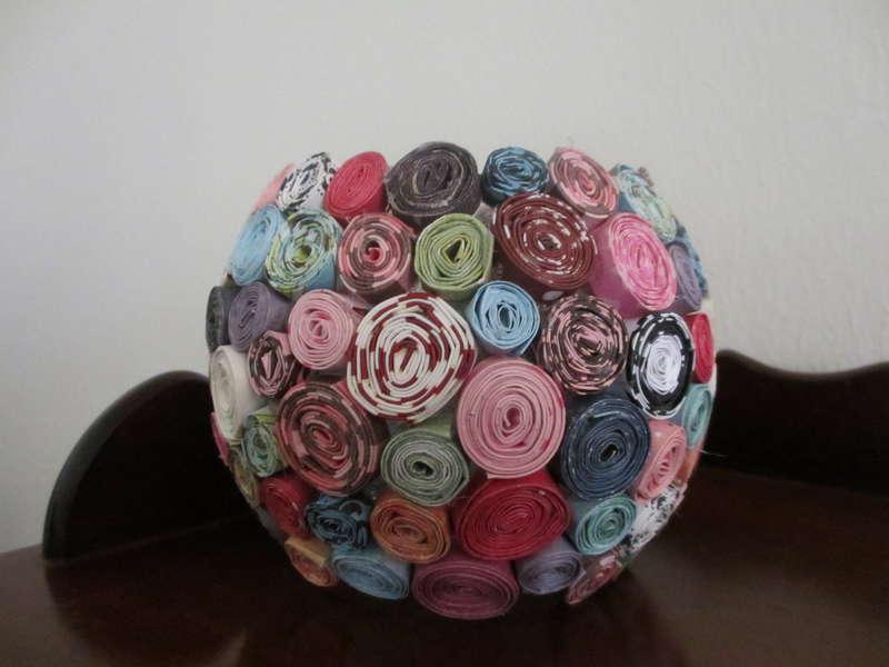 Rolled paper Vase