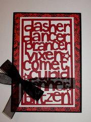 Dasher, Dancer....card