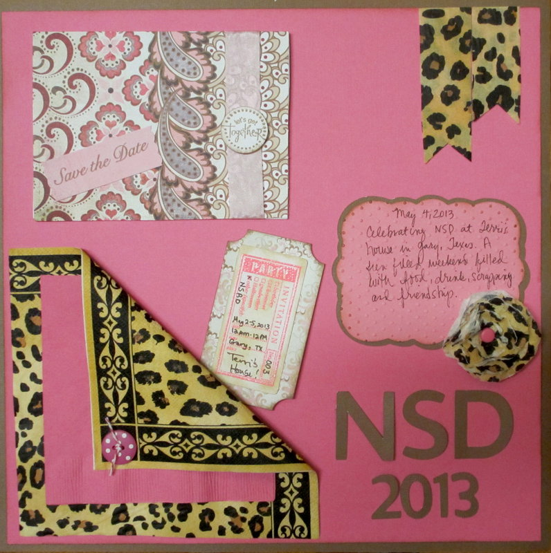 NSD 2013 Party on the Page-I used our party napkins