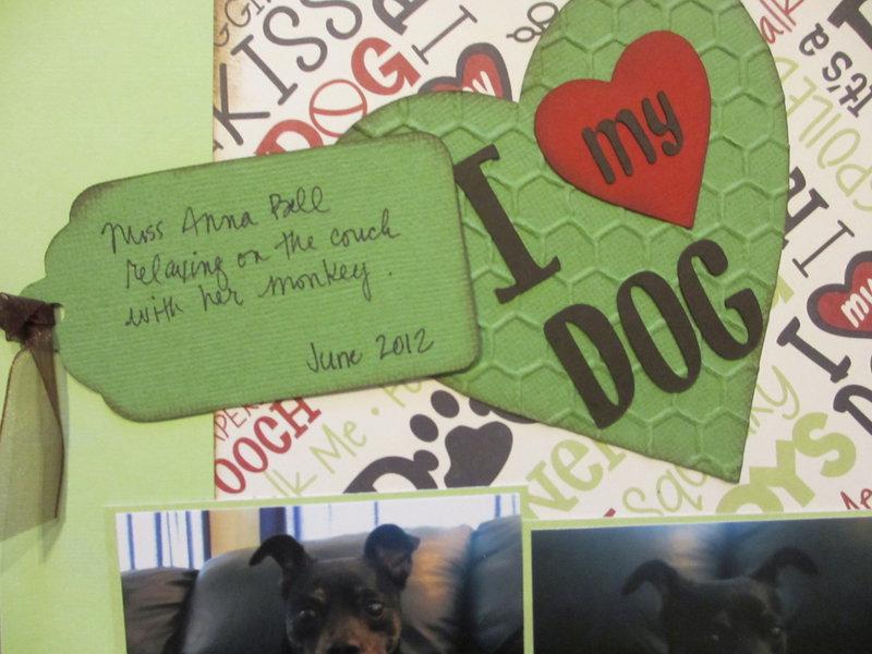 Hidden journaling forI love my dog