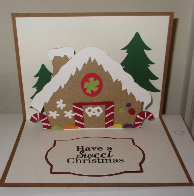 Inside Happy holidays card