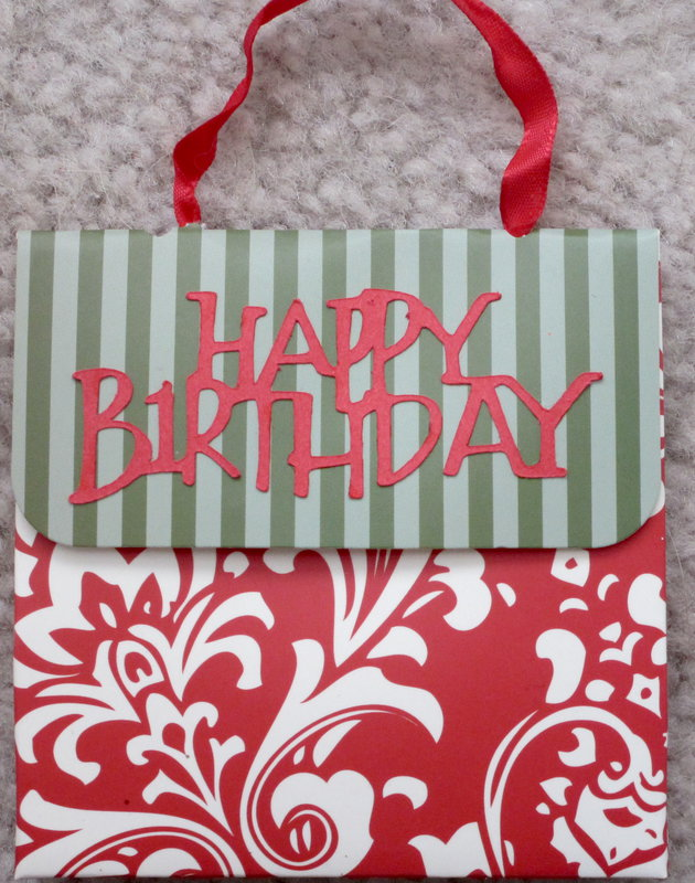Happy birthday gift card holder