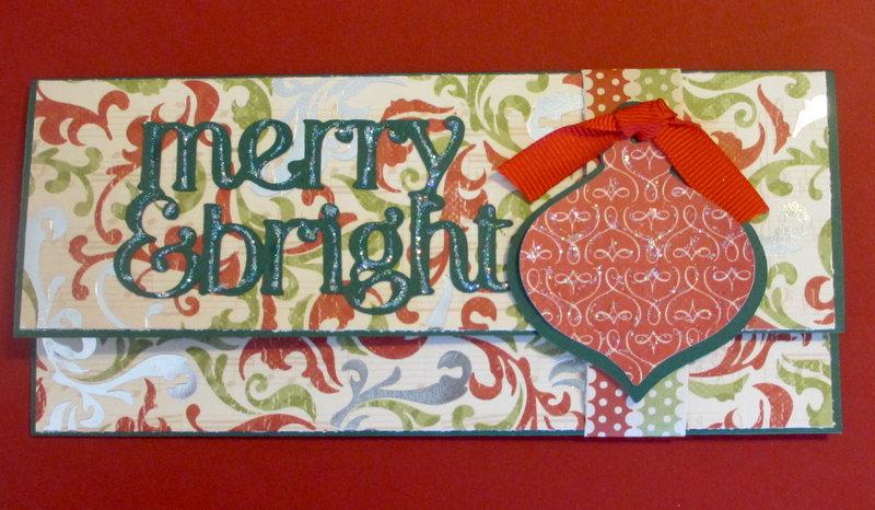 Merry & Bright money holder