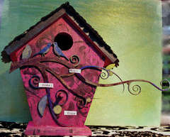 Tattered Angels *Wooden Birdhouse*