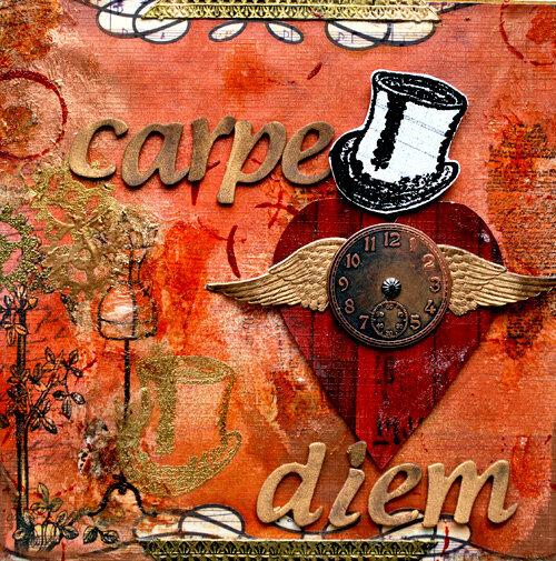 Carpe Diem *Wooden Shadowbox*