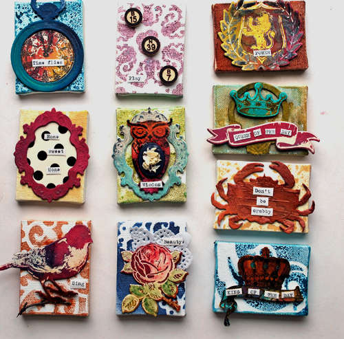 *Tattered Angels* Mini Canvases