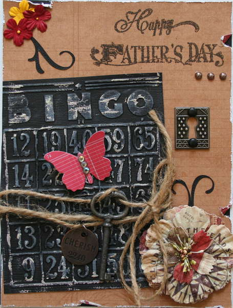 Happy Father's Day using texture fade embossing folder