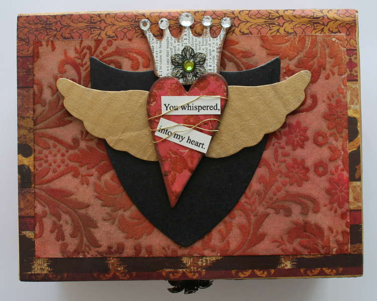 Altered Art Heart Box-Project From Creative Escape
