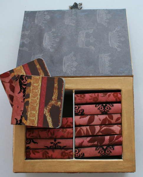 Altered Art Heart Box-inside