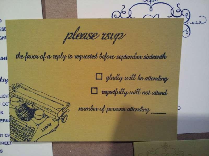 Wedding RSVP Stamped