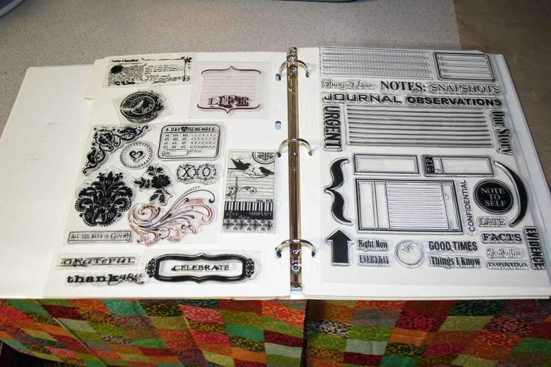 Acrylic Stamp Storage