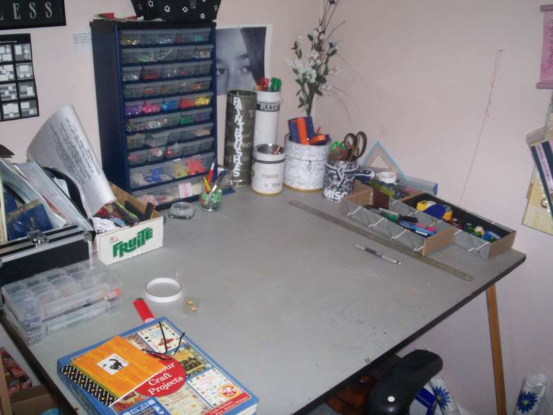 my little corner for now  its not much right now as we are remodelling and its just a mess right now so this is what i get...lol