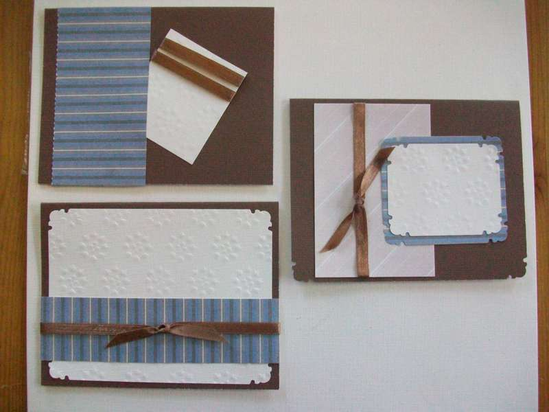 Brown and Blue Cards-blank