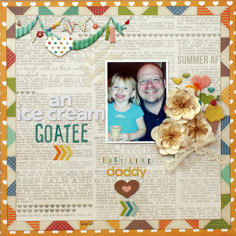 An Ice Cream Goatee - My Creative Scrapbook