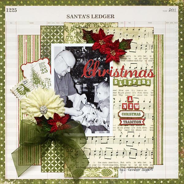 Christmas Slippers - My Creative Scrapbook