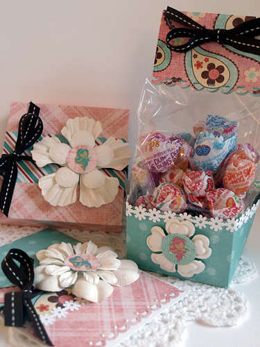 Mermaid Treat Bag, Gift Card Holder, and Card Set *Eyelet Outlet*