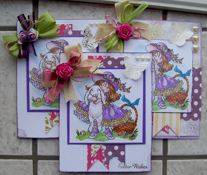 EASTER CARDS FOR GRANDDAUGHTERS!!