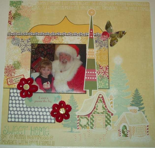 Laney and Santa