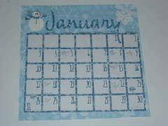 Calendar- January