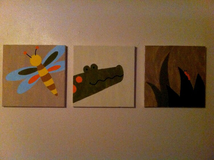 Canvass paintings for baby's room