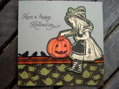 Alice Halloween Square card