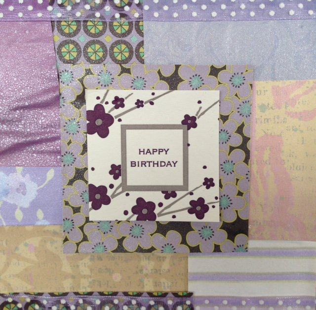 Patchscrap Square Birthday Card