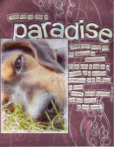 Paradise  (TBS in Doodling for Papercrafters)