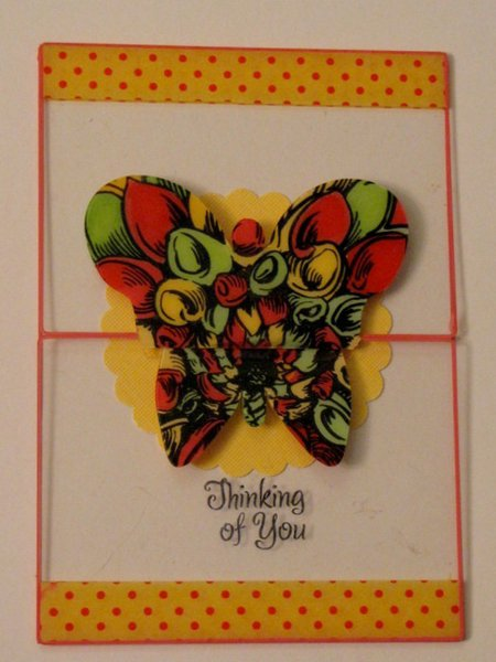 Butterfly acrylic card