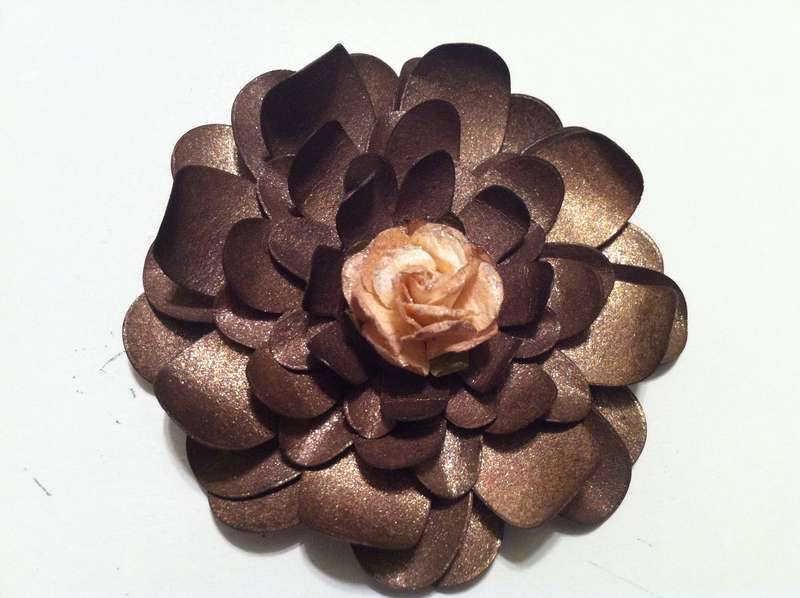 Bronze Handmade Flower