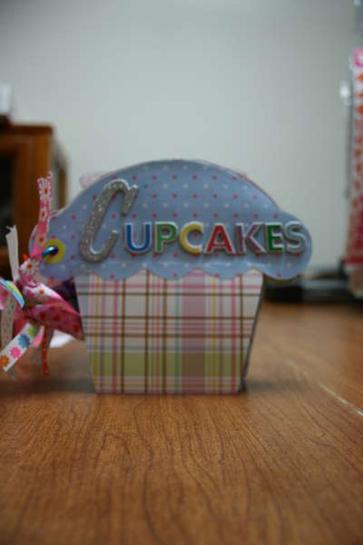 This is a cupcake recipe book from my Fabulous pal Christy ( Scrappydooz )