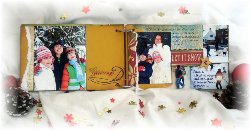 Winter 2009 mini-album pages 3 and 4 - KREATORVILLE KRAFT