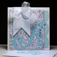"""""""A"""" Monogram Wedding Card"""