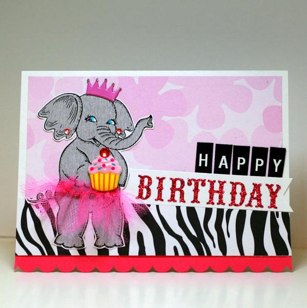 Birthday Elephant Ballerina