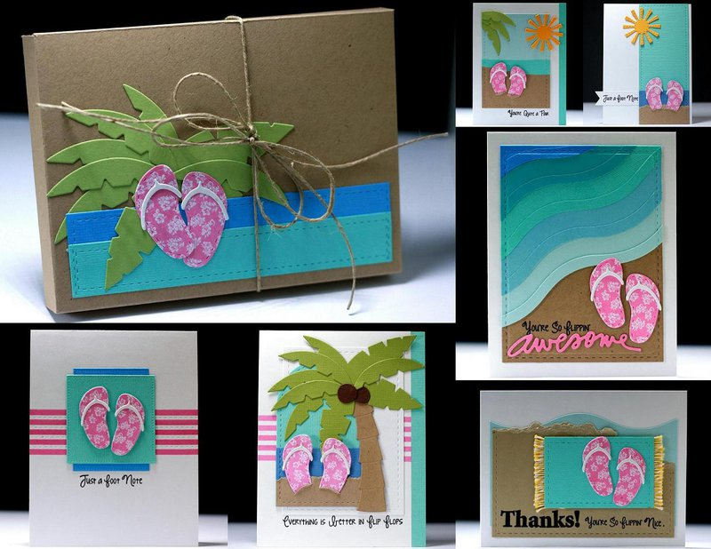 Beachy Flip Flop Card Set