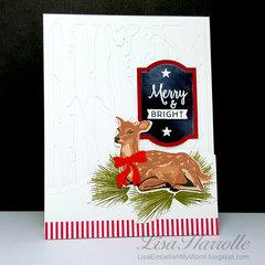 Christmas Deer Card Set #2