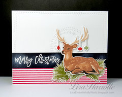 Christmas Deer Card Set #1
