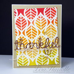 Thankful Stenciled leaves