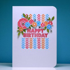 Happy Birthday Stamped Card