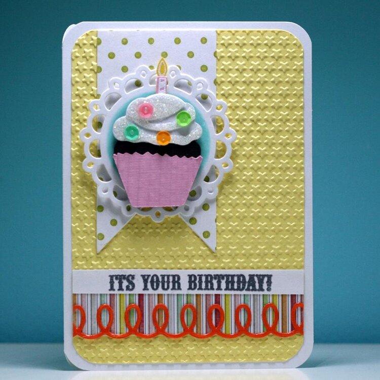 Birthday Cupcake Banner