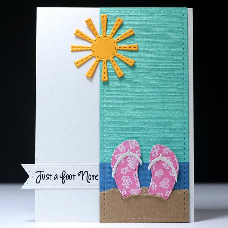 Beachy Flip Flop Card Set