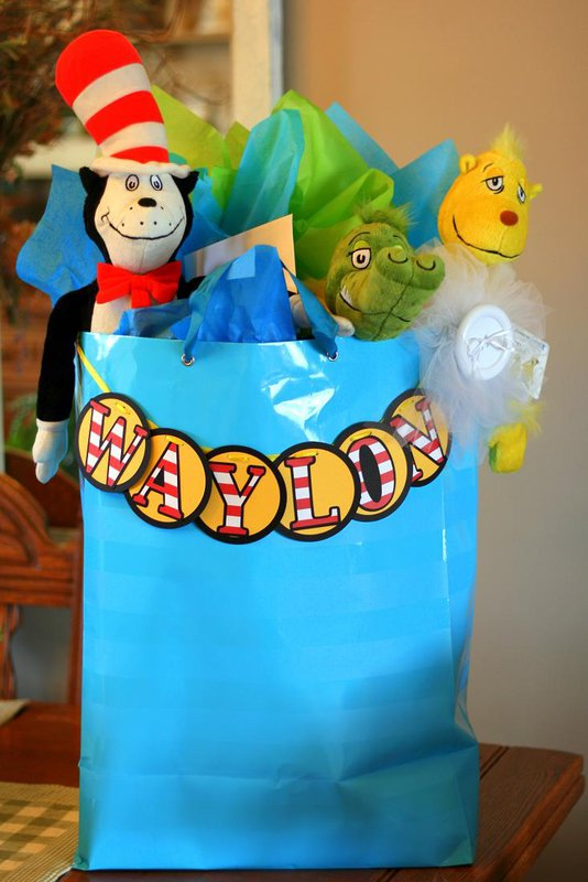 Dr. Suess themed gift tags