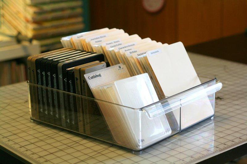 Clear stamp and die storage