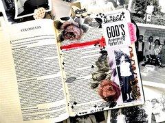 Be Thankful Bible Journaling Layout