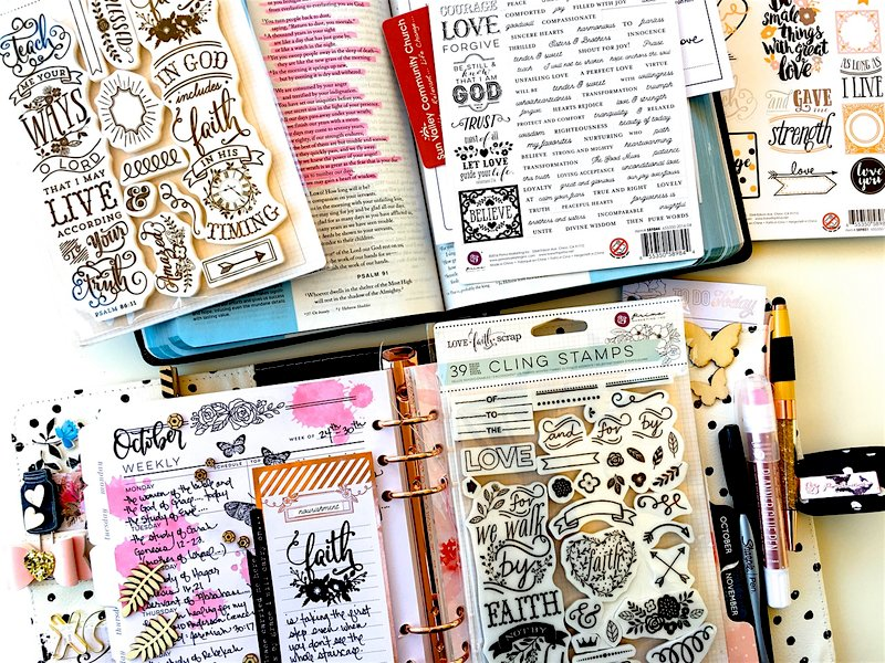 October Weekly Planner Layout