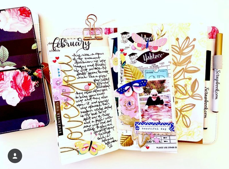 Traveler's Notebook Layout - Love You