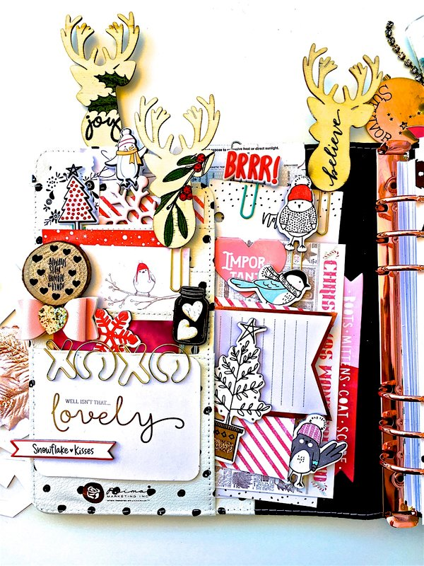 Holiday Planner Pocket Layout